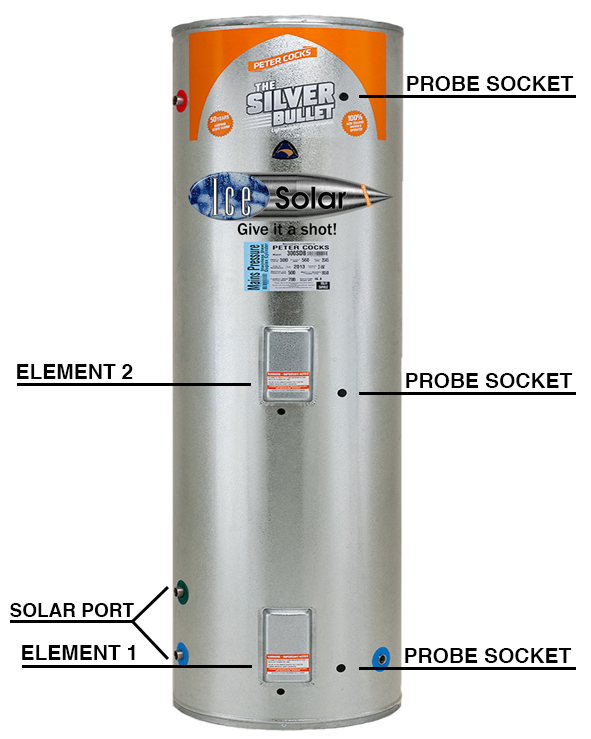 300l solar hot water cylinder with info