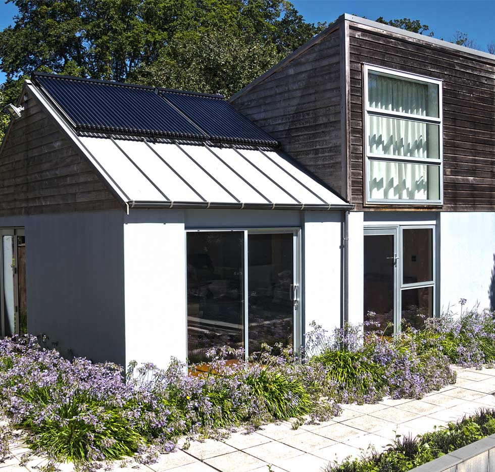 solar thermal on small house