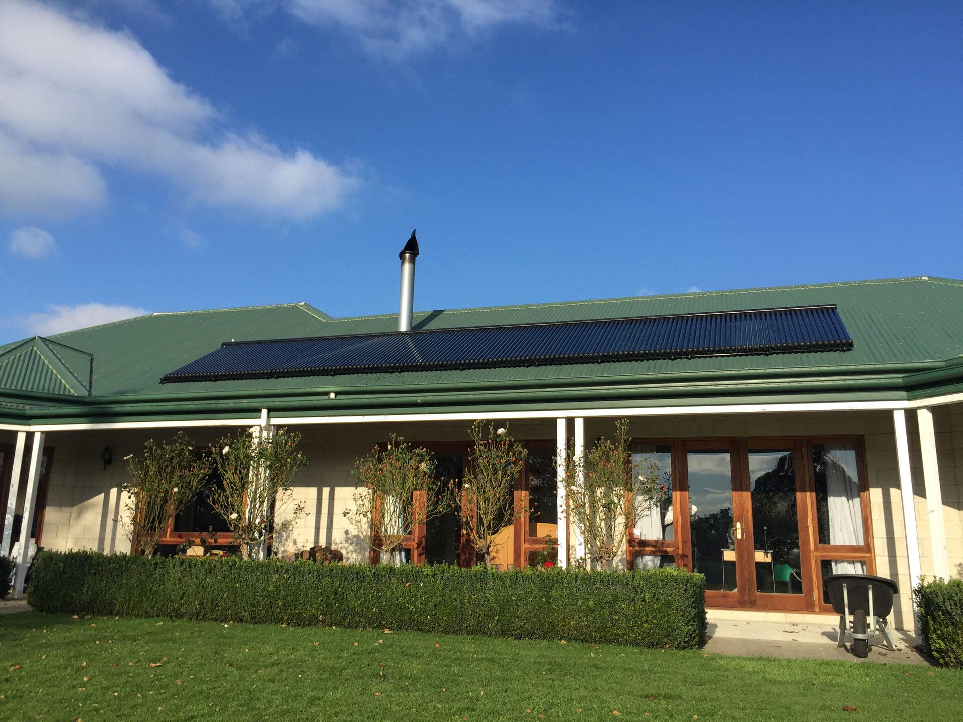 150 tube solar setup