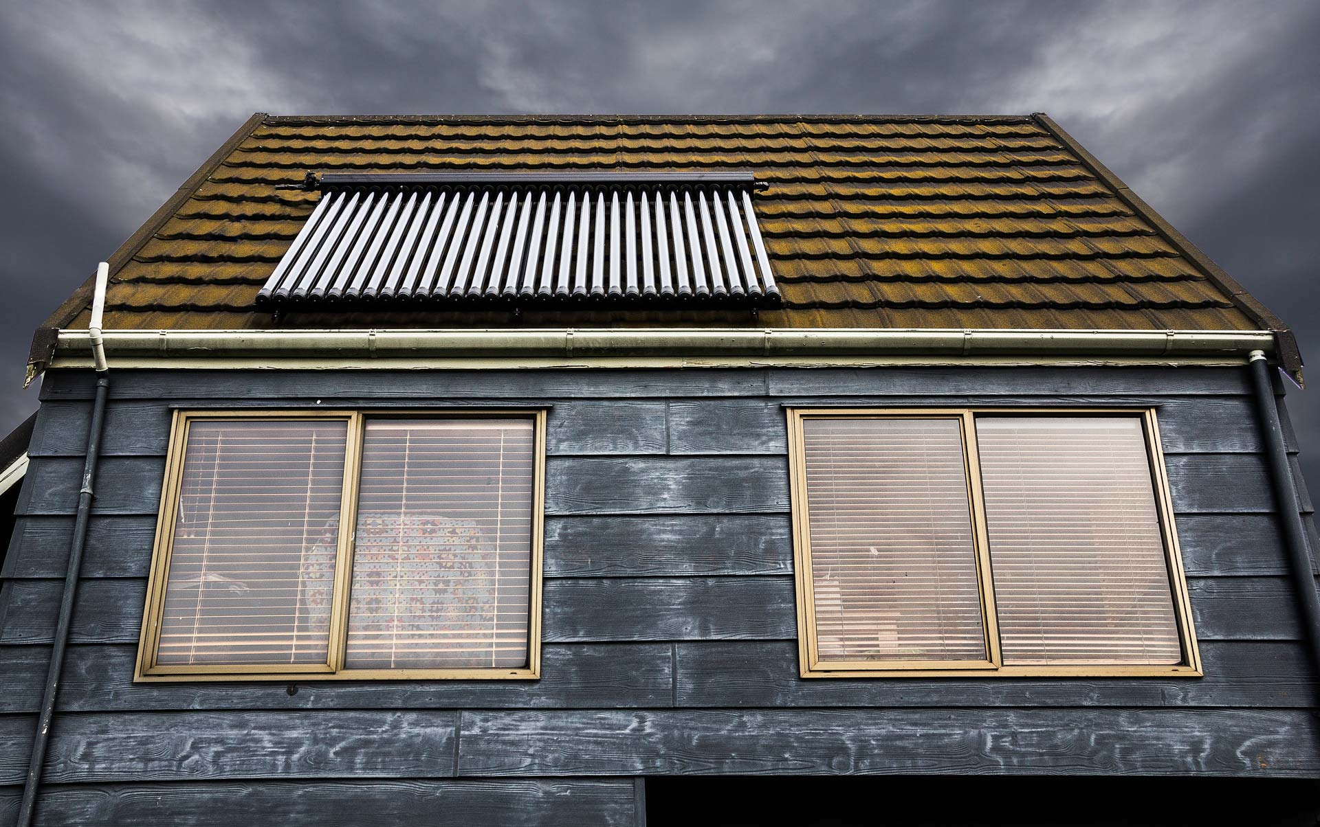 solar thermal on a house