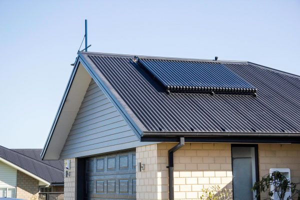 solar thermal on the roof