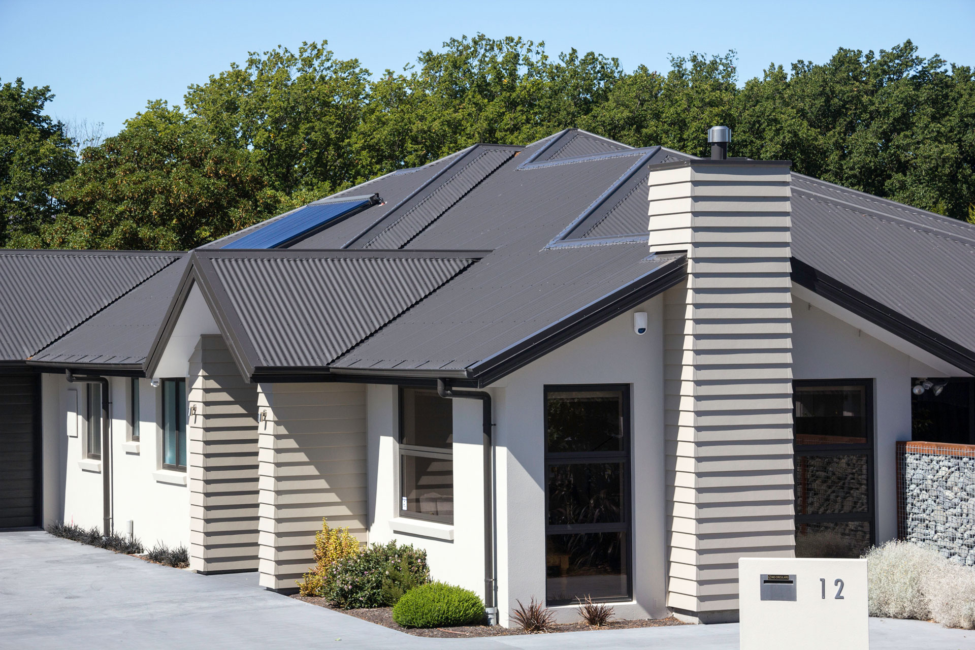 solar on a modern home