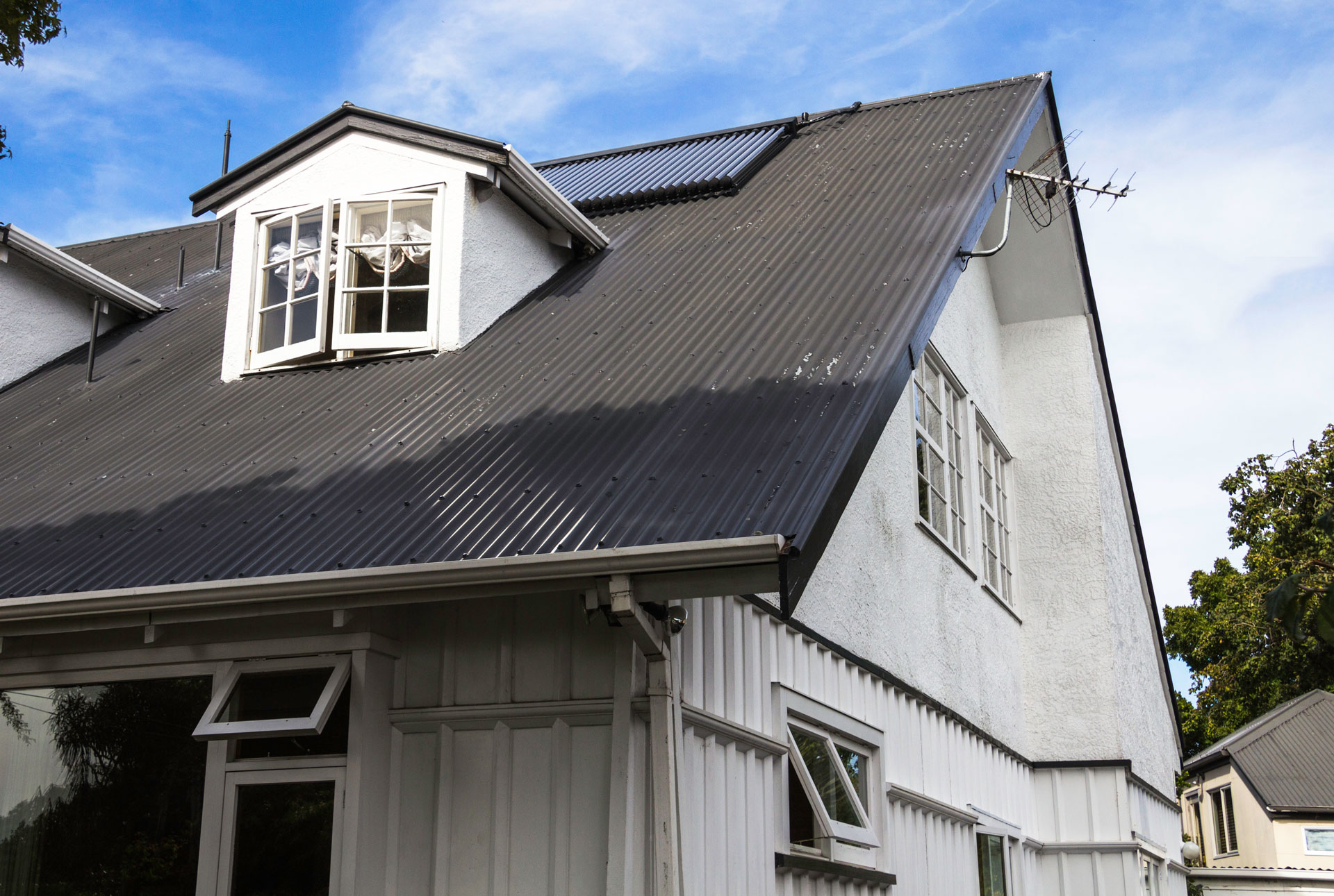 solar thermal on an old two story home