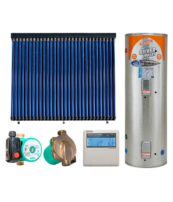 300L Mains Pressure Solar Hot Water System | Ice Solar Heating NZ