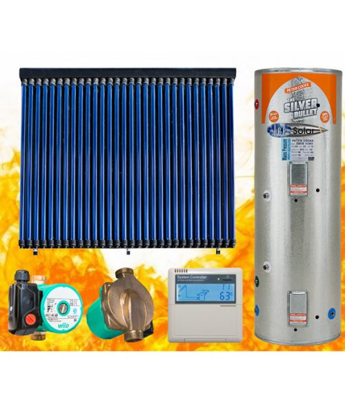 Solar thermal panel pump controller hot water cylinder