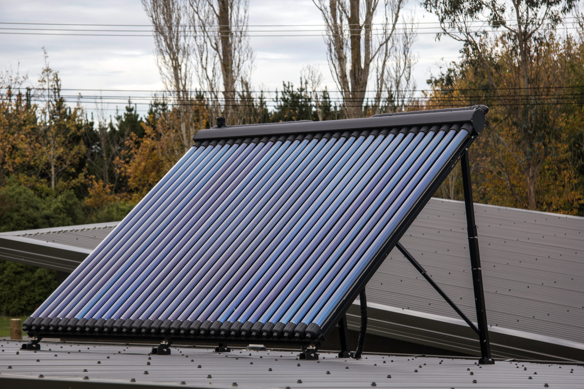 solar thermal with an upstand