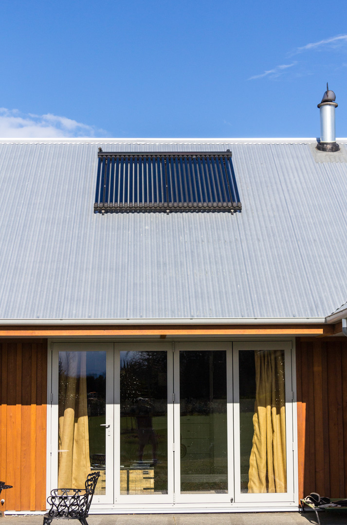 solar thermal on a wooden home