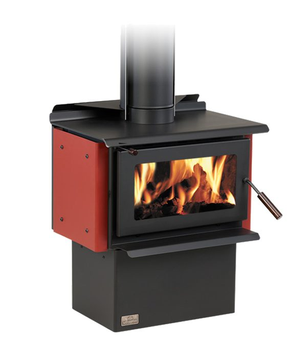 free standing fire Eco novo red